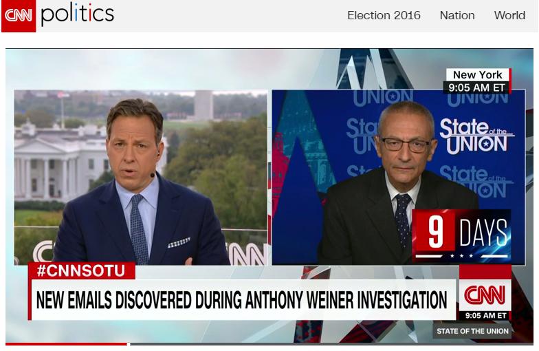 CNN Politics. Από τη συνέντευξη Ποντέστα στο CNN