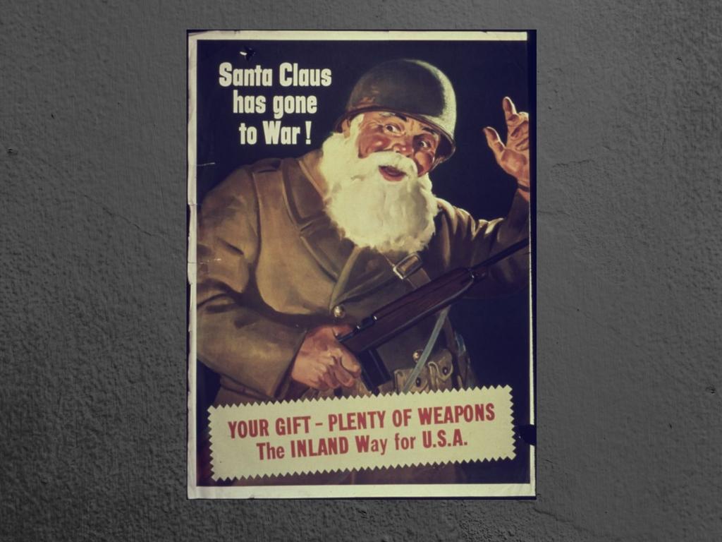 Ο Αϊ Βασίλης σε προπαγανδιστικές αφίσες!