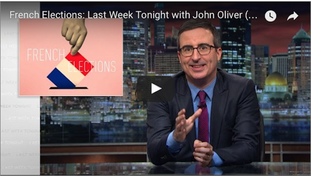 Απολαυστικό video με τον John Oliver: Σας παρακαλώ μην ψηφίσετε Λεπέν!