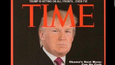 Ο Τραμπ εξώφυλλο στο TIME; Fake News!